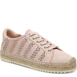 Marc Fisher | Blush Pink Lace Up Espadrilles 7.5